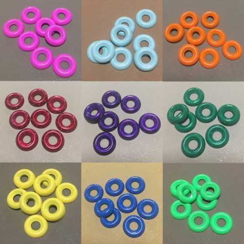 colored metal finishing washers
